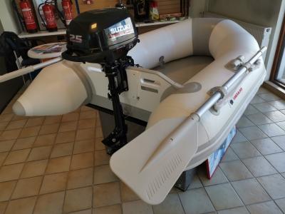 OSCULATI - Tender mit Lattenrollboden Modell 210 inkl. SUZUKI - Motor DF 2.5 PS
